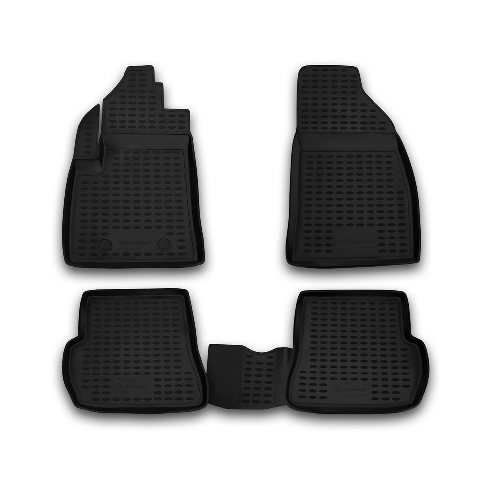 Floor mats for FORD Fusion 09/2002  Fiesta 2002 2008  4 PCs ELEMENT1667210k   - title=