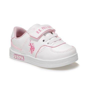 Us POLO ASSN CAMERON 1FX białe i różowe trampki dla dziewczynek tanie i dobre opinie U S POLO ASSN TR (pochodzenie) Dzieci Buty casualowe