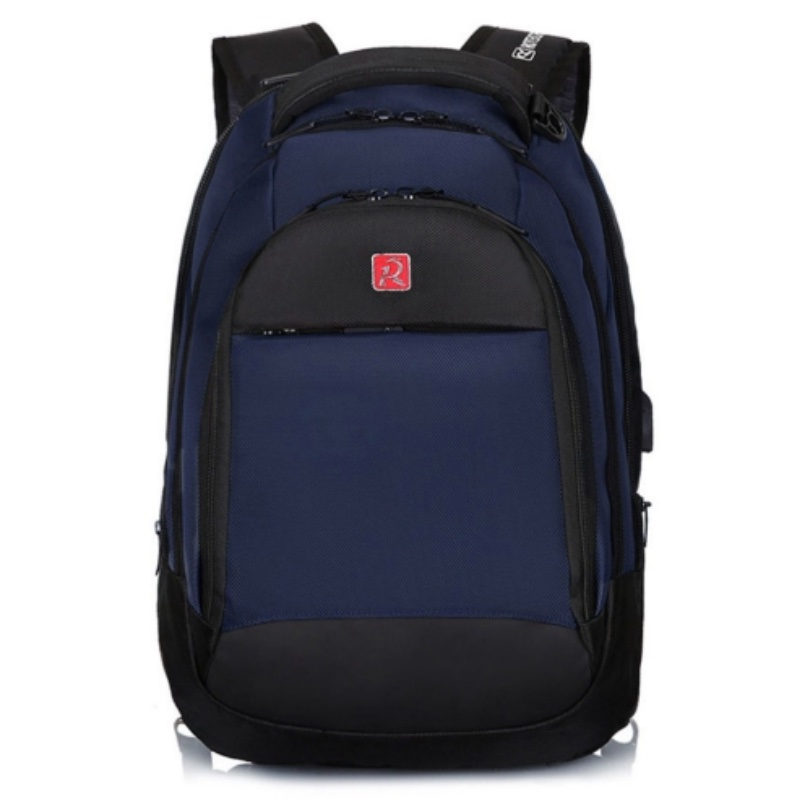 Rotekors Gear Urban Backpack Blue 6796990 With USB Port And Headphone Port, Suitable For Teens And Adults