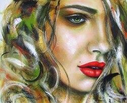 Malerei durch zahlen frauen schönheit, 40x50 cm