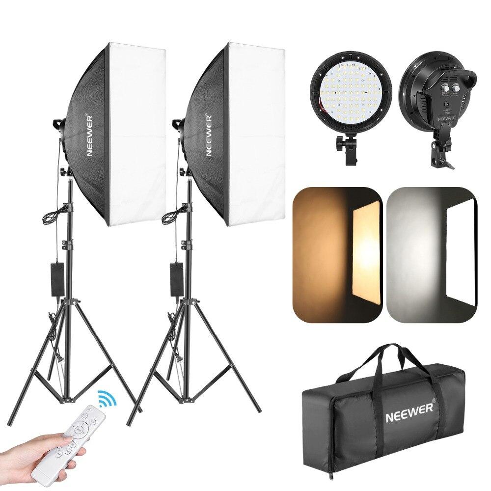 Neewer фото светодиодный светильник ing kit: head софтбокс подставка