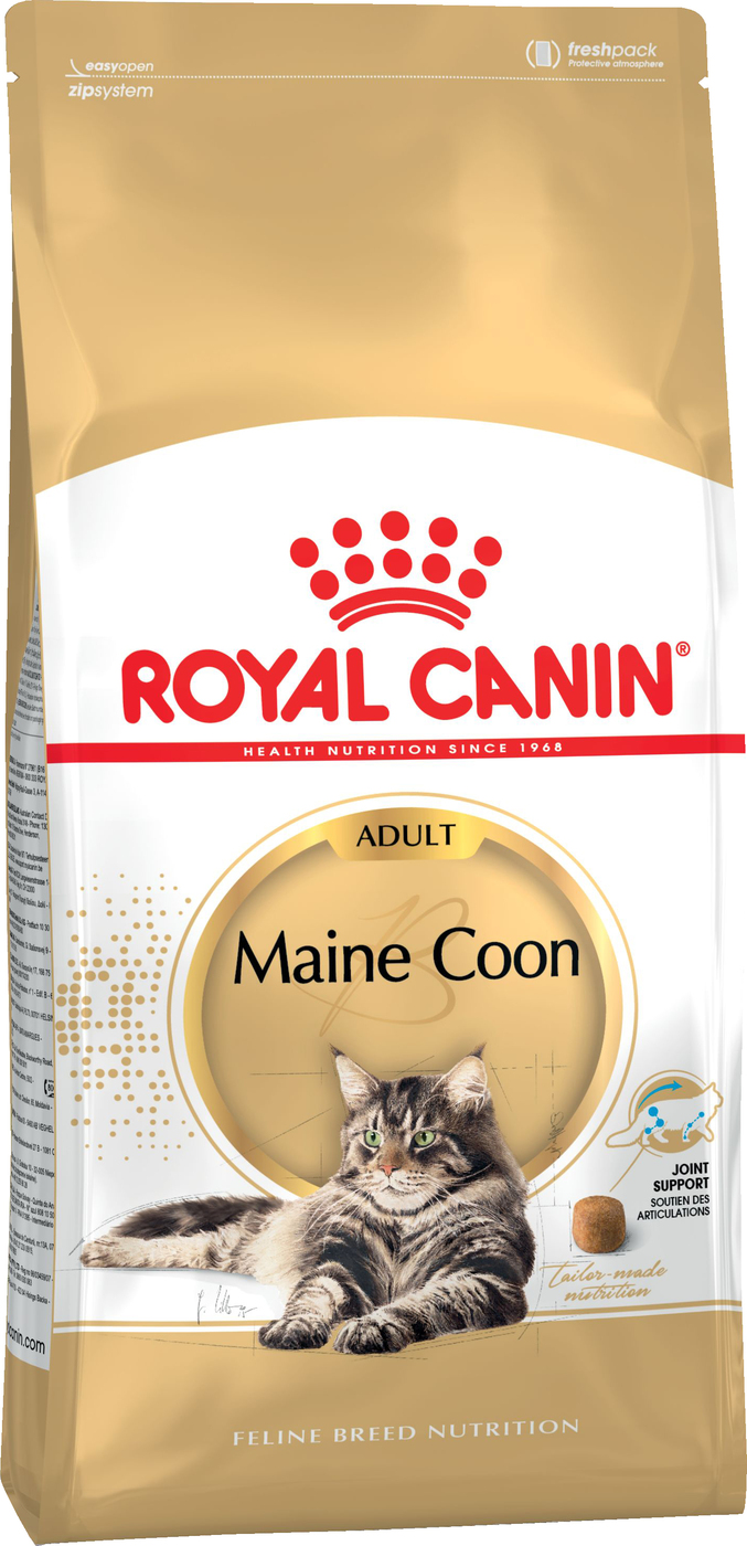 Royal Canin Maine Coon Adult для кошек породы мейн-кун, Cat Food, For Cats, 4 кг