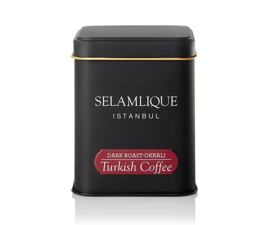 Selamlique Dark Roast Turkish Coffee 125gr.(4.4oz) | Millstone Ground Coffee| Millstone Coffee|100% Arabica coffee()