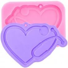 Heart Anatomy Organ Badge Reel Silicone Mold Jewelry Keyring Pendant Resin Craft