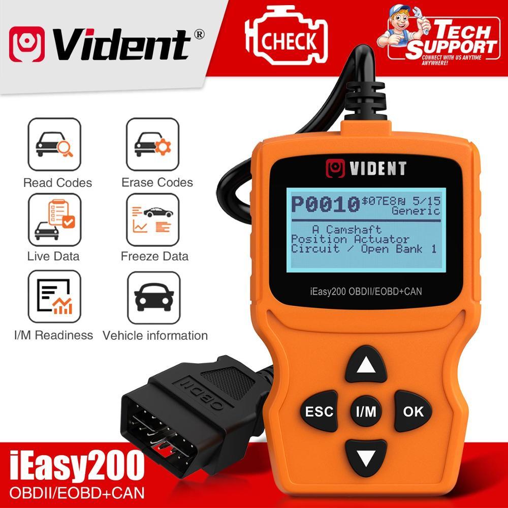 VIDENT iEasy200 OBDII/EOBD + KANN Code Reader Motor OBD2 scanner Mehrsprachige freies update PK ELM327
