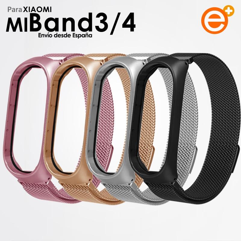 Ремешок Xiaomi Mi Band 4 металлический браслет Mi Band 3 металлический сменный регулируемый браслет с магнитной застежкой
