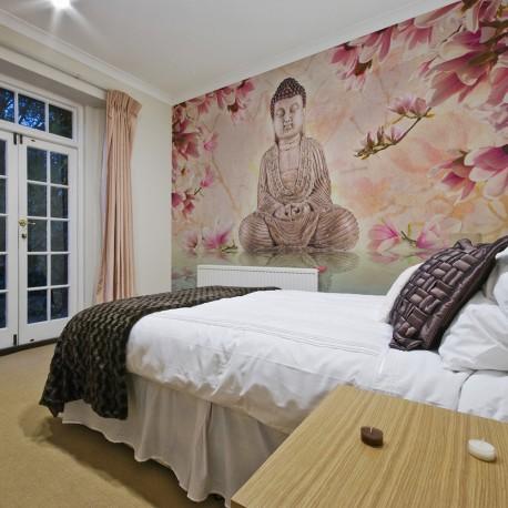 Photo Wallpaper-Buddha And Magnolia