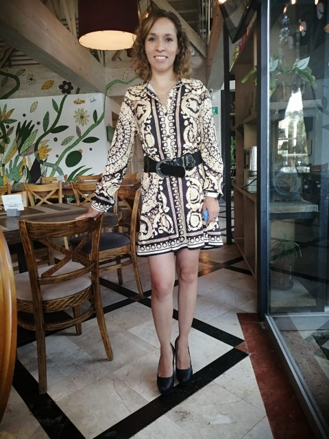 Fashion Vintage Womens Boho Dress 2020 Spring Loose Long Sleeve Party A-Line Dress Ladies Sexy V-neck Swing Short Mini Dresses reviews №4 360138