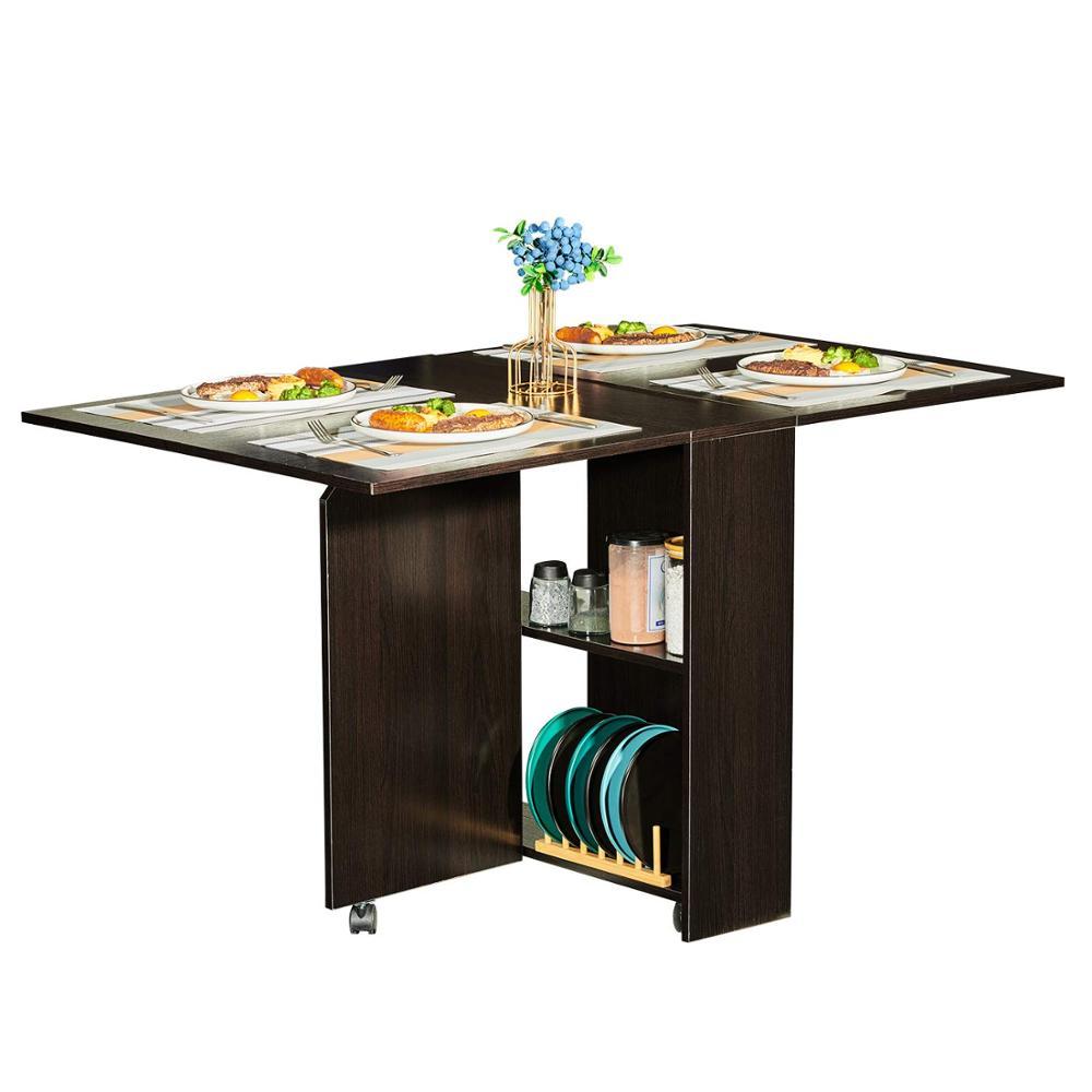Storage Racks Movable Dinner Table