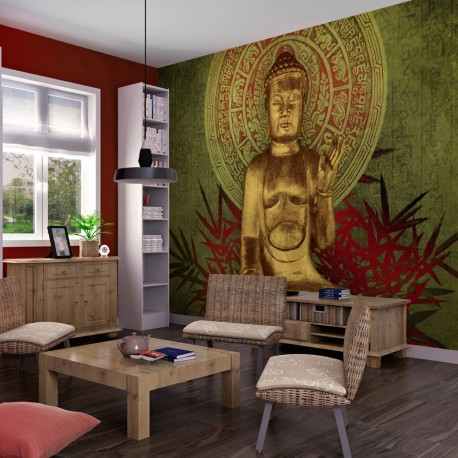 Photo Wallpaper-Golden Buddha