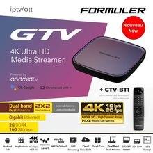 FORMULER GTV IPTV 4K UHD HDR Media Streamer Android TV 9.0 2Go/16Go WiFi Dual Band 2.4G/5G LAN 1000M (Box vendue VIERGE)