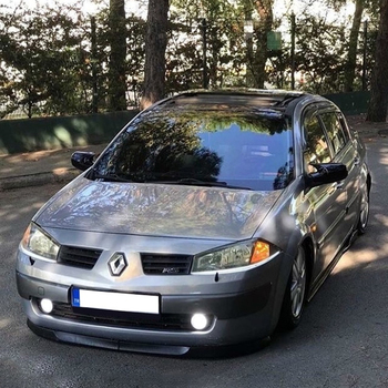 Lustrzane osłony dla Renault Megane 2 2002 2003 2004 2005 2006 2007 2008 2009 akcesoria czarny błyszczący obudowa z batmanem samochodu osłony zewnętrzne tanie i dobre opinie Autovision TR (pochodzenie)