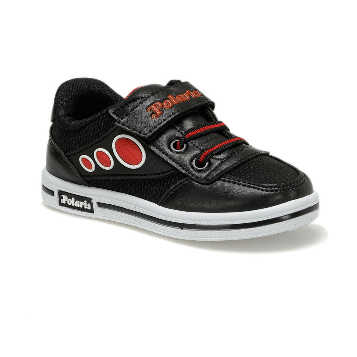 FLO 92.509803.P Black Male Child Sneaker Shoes Polaris