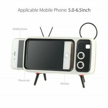 Mini Portable Retro BT Bluetooth Speaker Music TV Design Mobile Phone Holder Speaker Stereo Outdoor Sound 6