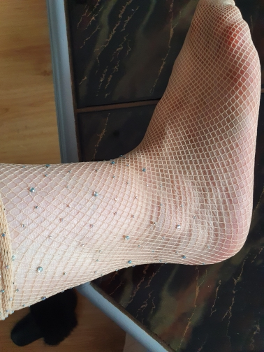 55cm Sexy Girls Tights Stockings for Children Girls Bottoming Outwear Rhinestone Crystal Stockings Kids Long Fishnet Stockings photo review