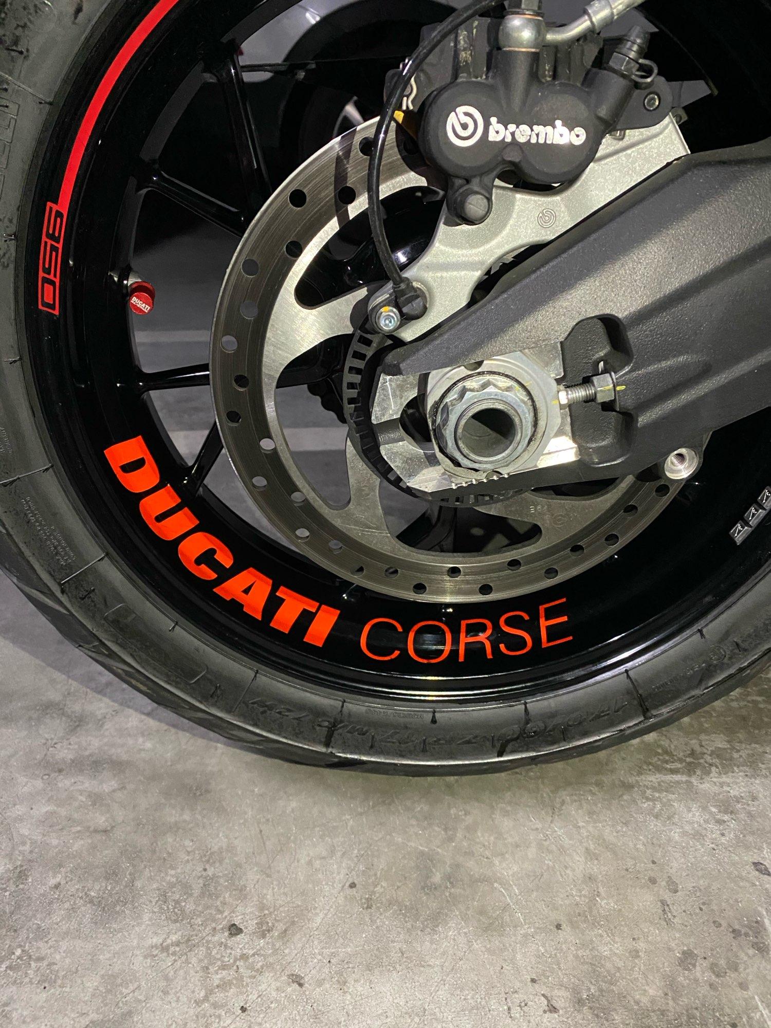 2 Tons Am/éthyste Jante de Moto d/écalcomanies Autocollant Accessoire pour Ducati Panigale