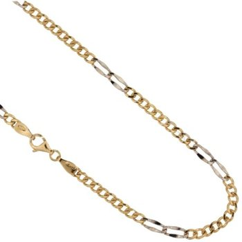 Yellow Gold Filled Men 'S Necklace and White 803321731246