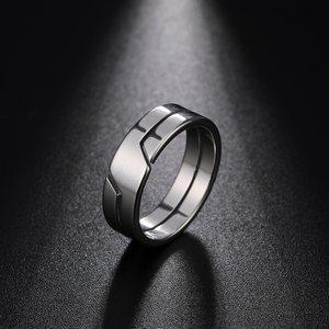 Модное простое парное кольцо Skyrim из нержавеющей стали для женщин и мужчин, повседневные кольца на палец, ювелирные изделия, Подарок на годов...