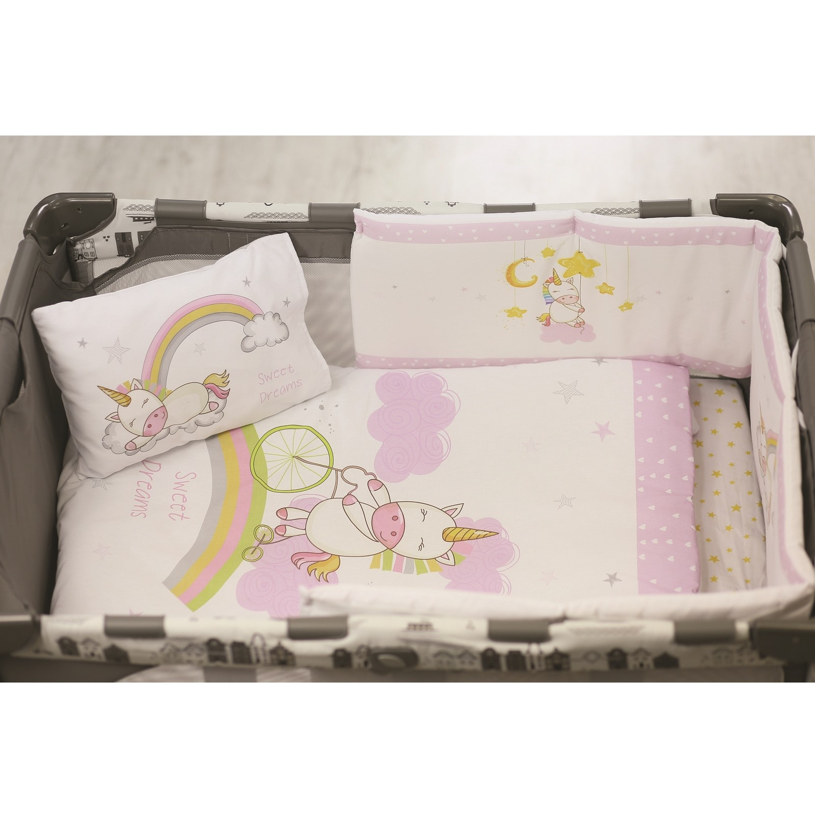 Ebebek Apolena Baby Unicorn Bed Edge Protection 30x180 Cm