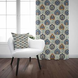 Аутентичный синий красный цветочный турецкий, османский ретро 3D принт гостиная спальня окно панель занавес комбинированный подарок наволо...