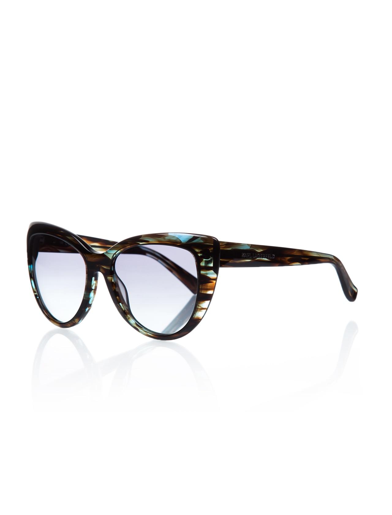 Women's sunglasses kl 833s 116 bone green organic butterfly cat eye 54-18-135 karl lagerfeld