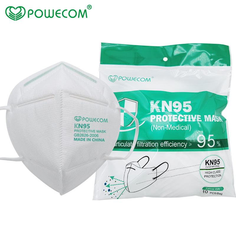 KN95 Powecom KN95 Mask Respirator 10pcs Face Mask Safety PM2.5 Protective 95% Filtration Mouth Muffle Mask Dust Mask-4