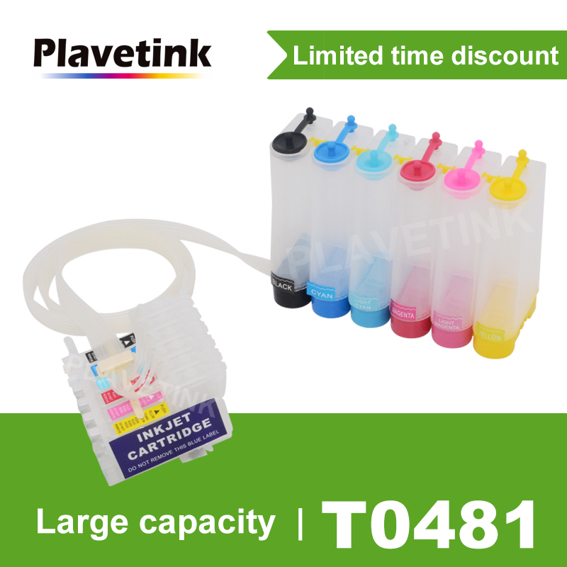 Plavetink T0481 CISS Ink Tank System For <font><b>Epson</b></font> Stylus Photo <font><b>R200</b></font> R220 R300 R300M R320 R340 RX500 Printer With Reset Chip image