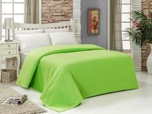 BuanArt Green Lilac Single Cotton Pique, 160x230cm Measured Pique, 100% Cotton Pique ultra Soft Structure Sleep Comfort