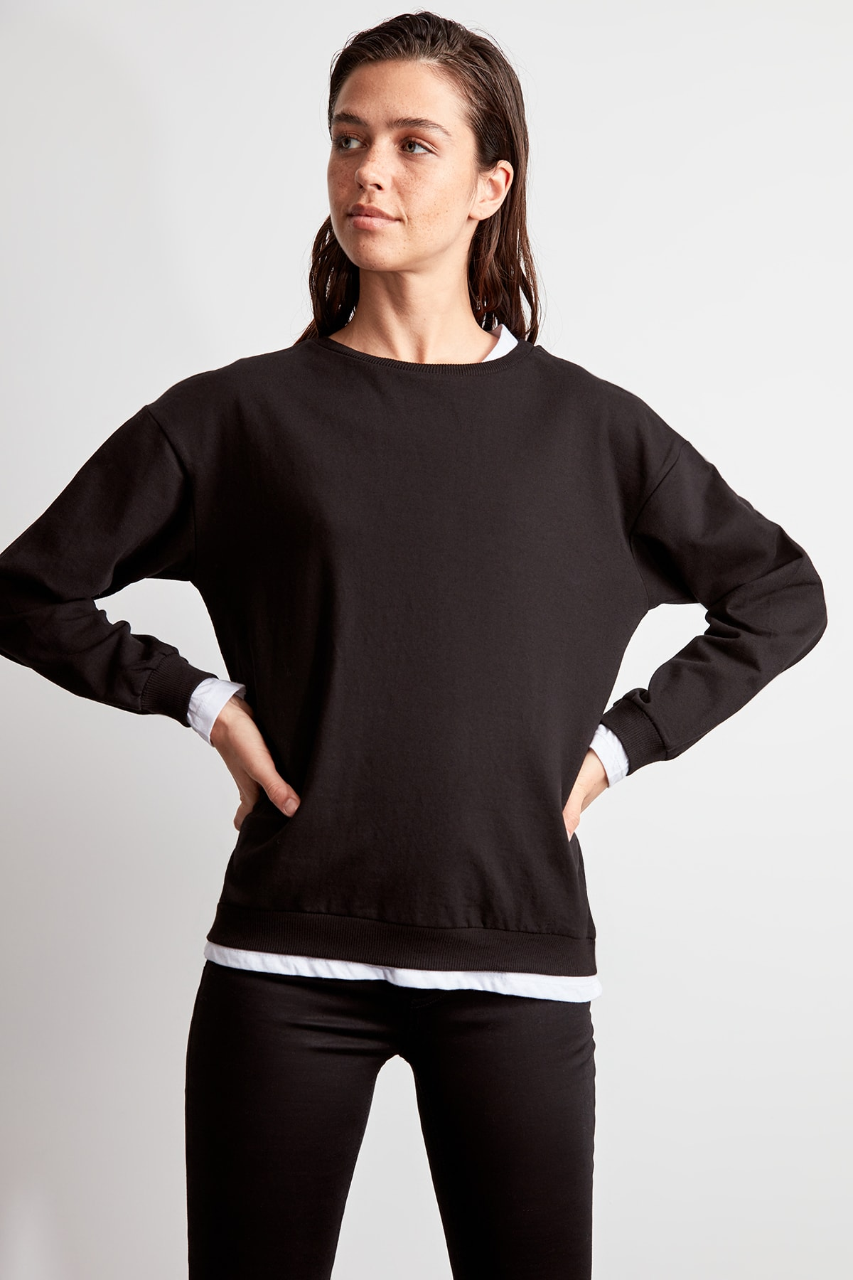 Trendyol Woven Detailed Knitted Sweatshirt TWOAW20SW0384