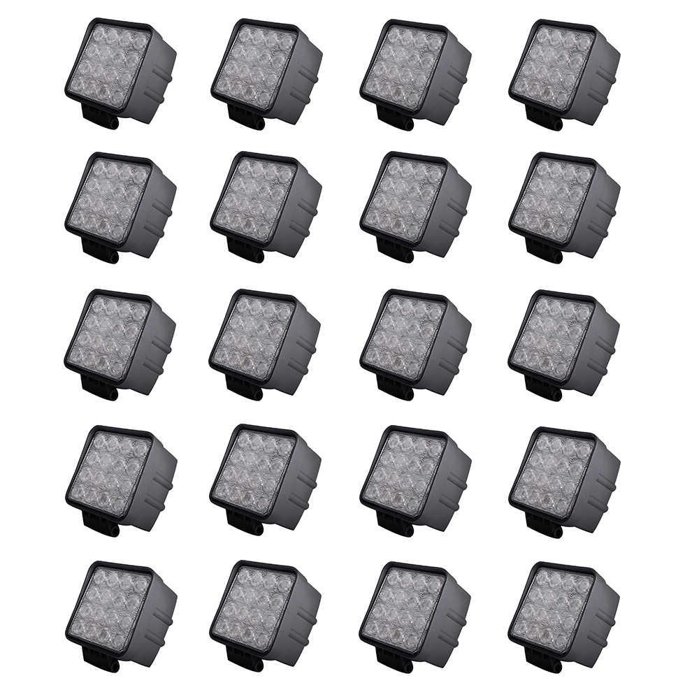 """20 قطعة ECAHAYAKU 4 """"مربع 48 واط Led ضوء العمل 6000K IP67 ل على الطرق الوعرة SUV شاحنة ATV الدراجات النارية E-الدراجة قارب 12 فولت/24 فولت سيارة LED مصباح"""
