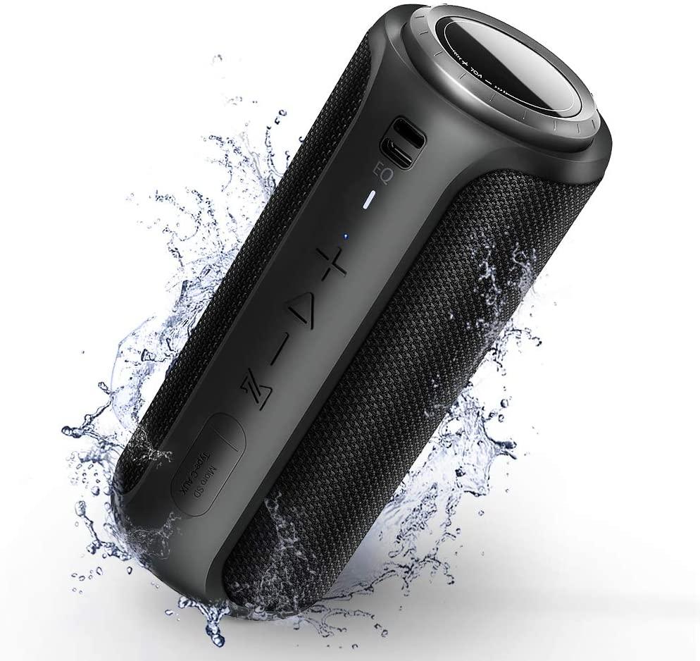 Zoetree S12 Bluetooth 5.0 Speaker 30W 360° Portable Wireless Speaker Stereo Sound Box with Mic IPX7 Waterproof type-c speaker(China)