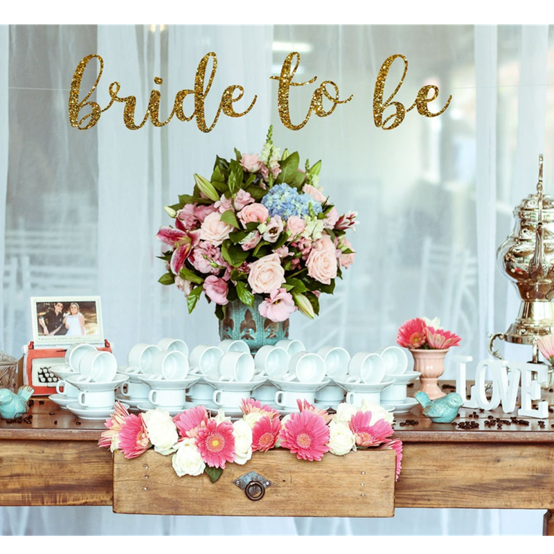 Personalised Bride To Be Banner Bridal Shower Banner Bride To Be Sign Bachelorette Party Glitter Banners Custom Wedding Banner Banners Streamers Confetti Aliexpress