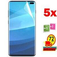 5x Protectores Pantalla Lamina para for Samsung GALAXY  S10 PLUS (NO  ES CRISTAL TEMPLADO VIDRIO)