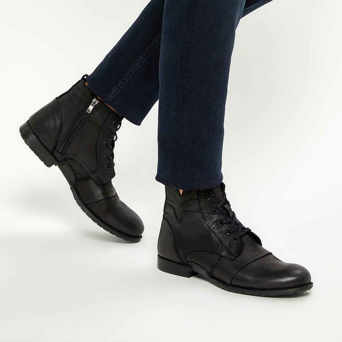 FLO 4012 Black Men Boots Forester