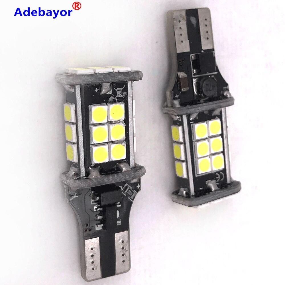 Ampoule de voiture 50x T15 t10 24 SMD 3030 lumière LED, feu de stop automatique, lumière de recul et de décodage, indicateur de Direction 12V 24V