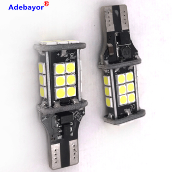 50x T15 t10 24 SMD 3030 LED light Bulb Auto Brake Lamp Car Backup Reverse Light The Decoding Light Direction Indicator 12V 24V