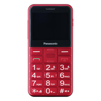 Mobile telephone for older adults Panasonic Corp. KX TU150 TFT LCD Dual SIM Red|Cellphones| |  -