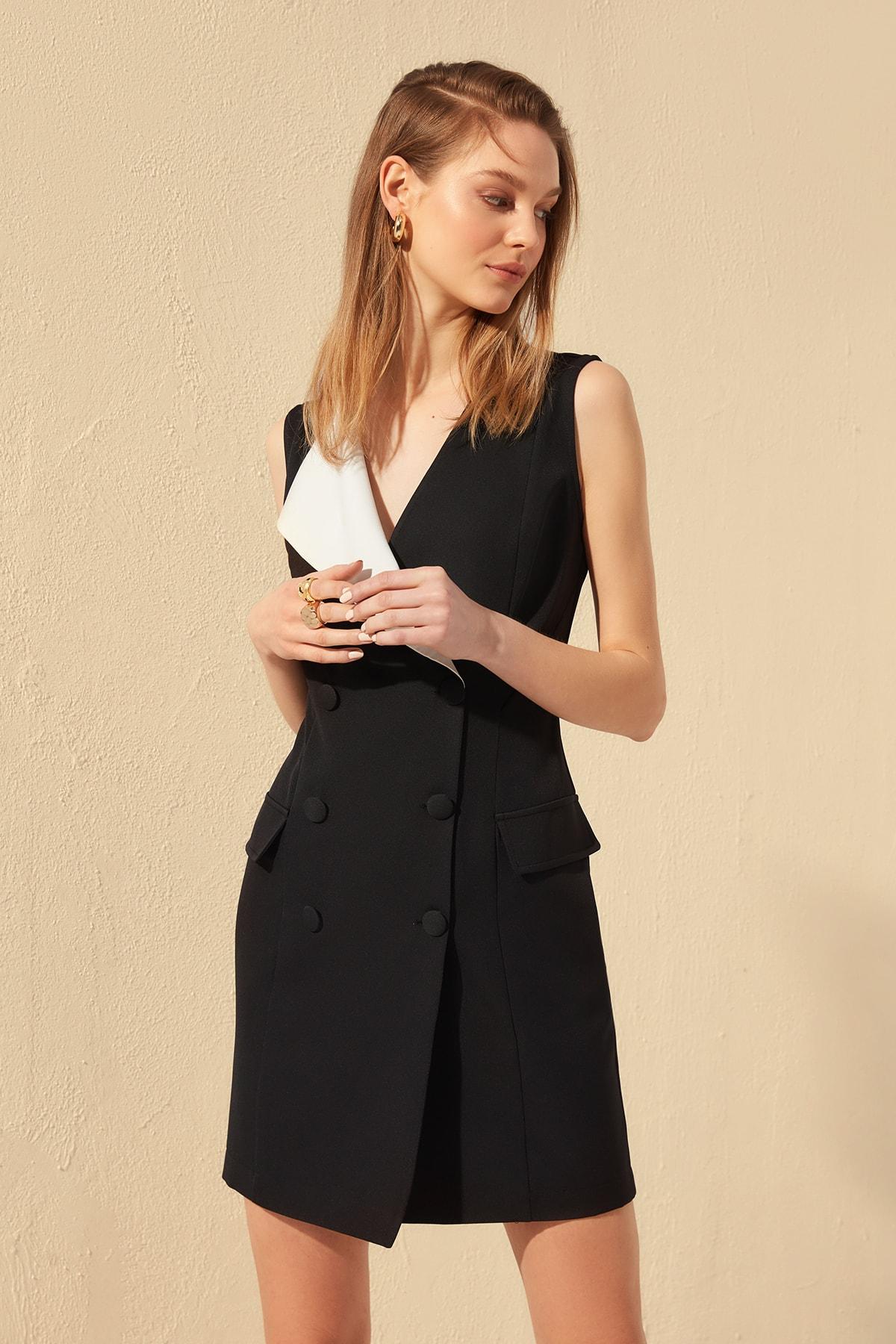 Trendyol Collar Detail Dress TWOSS20EL0517