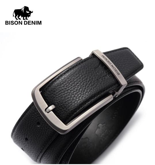 Male Genuine Leather Strap Bison Denim N71315