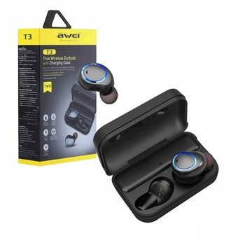 Wireless earphones Awei T3 Bluetooth original Android iPhone windows TWS stereo sound microphone noise reduction