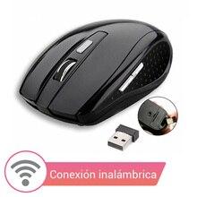 Ratón mouse inalámbrico de 2.4 GHz 1600 DPI conexión inalámbrica para ordenador portátil y PC de sobremesa para Windows y Mac