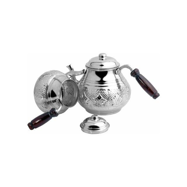 Turkish Handmade Copper Teapot Double Boiler 6
