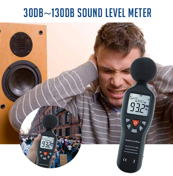 Sound Level Meter with Data Record Function High Accuracy Measuring 30dB-130dB with Backlit Display Compact Professional