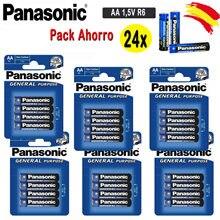 DEPALMERA   PANASONIC Original Pilas AA 24x1,5 V LR6 General PACK 6 Blister 4 unidades since España Envío Gratis