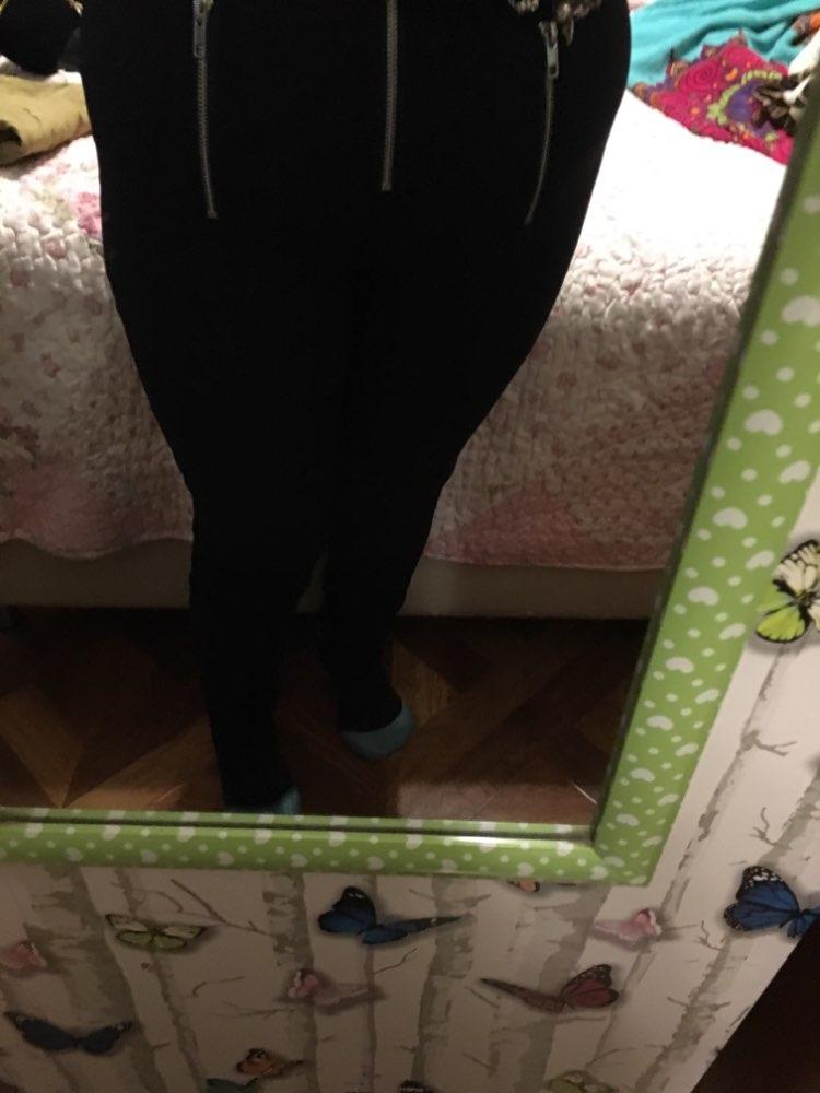 Grunge Pants Women Zipper Fold Streetwear Pencil Casual Fashion Pant Black Chic Summer Long Trousers Streetwear photo review