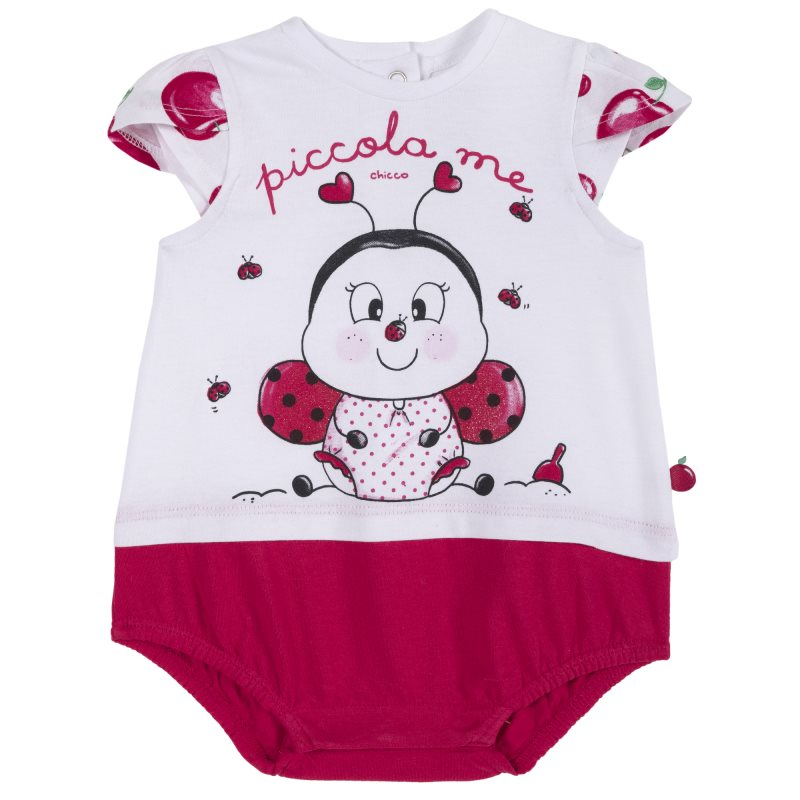 Фото - Bodysuit Chicco, size 074, color ladybug (white) shoes velcro genuine leather chicco size 200 color white