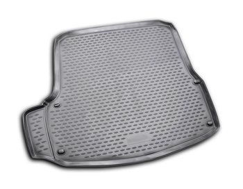 Trunk car mat for Skoda Octavia II 2007~2014 hatchback car interior protection floor from dirt guard car styling image