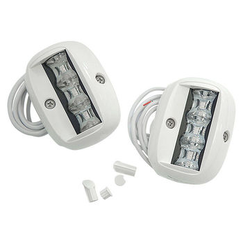 Lights running led 90x65mm, White housing 71969