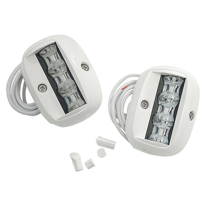 Running Lights Led 90 X65 Mm White Shell 71969