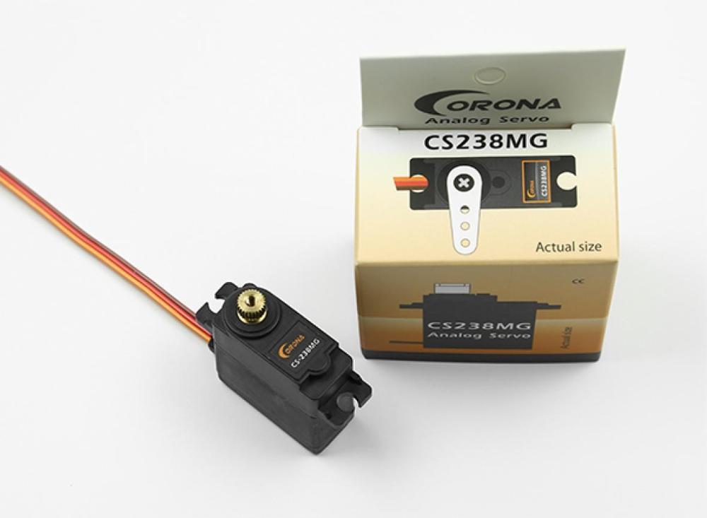 Corona CS238MG  22g Thin Metal Wing Analog Servo 4.6kg.cm / 0.14sec.60º  For RC Airplane|Parts & Accessories| |  - title=